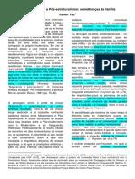 Pós modernismo e Pós estruturalismo. semelhanças de família. VAZ.docx