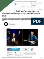 Eric Clapton y Paul McCartney Aportan Sus Instrumentos Para Una Exhibición Del Met _ Perfil