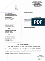 Suit filed by John Fiorill against Conestoga and Pequea townships
