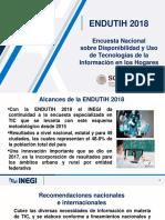Encuesta sobre Disponibilidad y Uso de Tecnologías de la Información y la Comunicación en los Hogares 2018