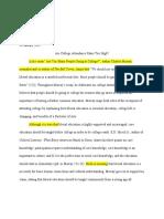 christen brown - summary essay
