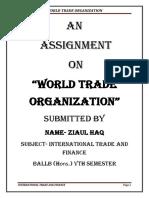World Trade Organisation.docx
