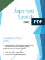 Tema 20 - Estilo Directo e Indirecto (Reported Speech)