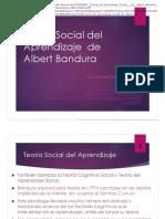 Aprendizaje por imitación o Teoría del Aprendizaje Social -  Sierra, Cecilia -Docente-
