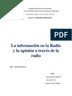 LA INFORMACIÓN EN LA RADIO Y LA OPINIÓN A TRAVÉS DE LA RADIO.docx