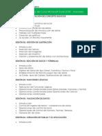 Plan de Estudios Del Curso Microsoft Excel 2016 AVANZADO