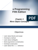 Chapter 4 Java Objects