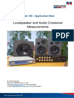 2b-App Note Loudspeaker Audio Crossover Measurements V1 0