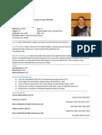 athletic resume