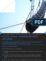 Active, Passive, Bi-Amped Speakers Explained, SXS Events