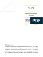Bhel Financial Analysis
