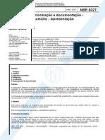 NBR 6027 2003 Documentação Apresentação
