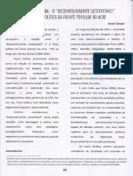 SOUZA, Israel. Ascensão e queda - o desenvolvimento sustentável e a força política da Frente Popular do Acre.Trinta anos pós assassinato de Chico Mendes, Rio Branco, p.29-41, dez.2018..pdf
