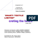 formation of textile company in law