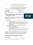 Income Statement and Statement of Financial Position Prepared By