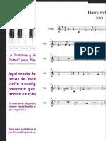 """La Partitura y Notas de """"Harry Potter"""" para Violín - Las Notas De Nana"""