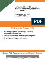 Update on Sentinel Node Biopsy in Endometrial Cancer