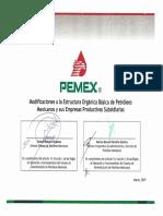 PEMEX Nueva Estructura