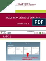 Instructivo Para Cierre SAP 2017 II