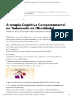 A Terapia Cognitiva Comportamental No Tratamento de Obesidade! – Rodolfo Scatolon