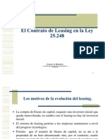 El Leasing en La Ley 25248