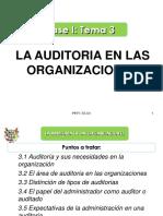 Fase I - Tema 3 - La Auditoría en las Organizaciones.ppt