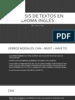 Análisis de Textos en Idioma Inglés - Instrucciones Para Trabajar La Actividad