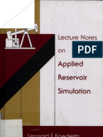 Leonard F. Koederitz - Lecture Notes on Applied Reservoir Simulation