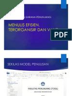 B.   Menulis Efisien Terorganisir dan Valid.pptx