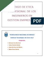 CODIGO DE ETICA PROFESIONAL DE LOS INGENIEROS EN GESTION EMPRESARIAL.docx