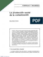 La Produccion Social de La Comunicacion