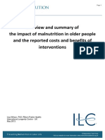 A Review and Summary of the Impact of Malnutrition in Older People and the Reported Costs and Benefits of Interventions