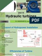 Hydraulic Machines - Turbines