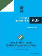 Checklist for presiding officers