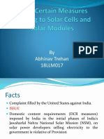 India — Certain Measures Relating to Solar Cells