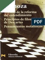 Spinoza - Tratado de La Reforma del Entendimiento.pdf