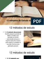 12 Métodos de Estudo da Bíblia