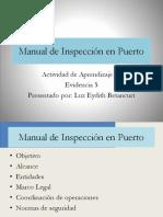 AA10, Evidencia 5, Manual de Inspección en Puerto
