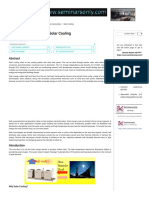 Solar Cooling _ Seminar Report, PPT, PDF for Mechanical