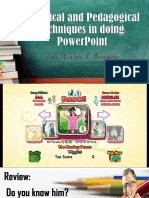 Technical and Pedagogical Techniques in Doing PowerPoint