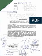 Proyecto de Yeni Vilcatoma plantea derogar la Ley 30737