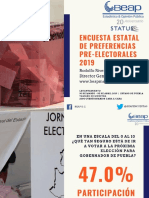Preferencias Preelectorales Estatal 2019