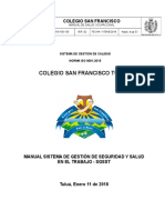 Manual Salud Ocupaciona COLSAFRA 2018