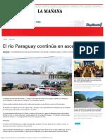 El Río Paraguay Continúa en Ascenso - Diario La Mañana