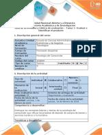 Guia de Actividades y Rubrica de Evaluacion - Tarea 1. Identificación Del Escenario