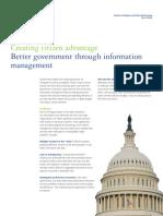Better Government Through Information Management