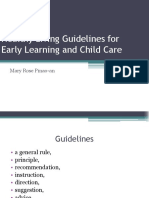Healthy Living Guidelines for Early Learning and Child