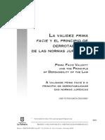 La Validez PRIMA facie y el principio de derrotabilidad de la NJ.pdf