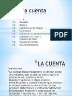 4.1 LA CUENTA