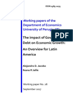 The impact of Government Debt on Economic Growth